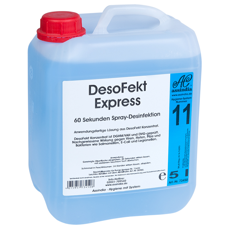 DesoFekt Express Spray-Desinfektion 5l Kanister