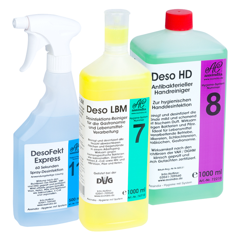 "Angebot Desinfektion ""L"" - DesoFekt, Deso LBM und Deso HD"
